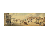 A Coach and Four Passing Through Chippenham, Wiltshire Giclee Print by Samuel Howitt