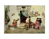 Figaro's Shop, 1875 Giclee Print by Jose-Jimenes Aranda