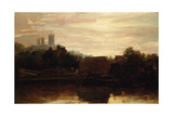 A View of Lincoln from the Foss Dyke, Dawn Giclee Print by Peter De Wint