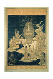 Samantabhadra on His White Elephant Giclee Print