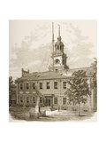 County Court House Or, Independence Hall, Philadelphia Pennsylvania, C.1880 Giclee Print by Reverend Samuel Manning