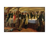 Before Copenhagen: the Ward Room of Hms Elephant, 1st April 1801, 1898 Giclee Print by Thomas Davidson