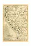 Peru, from 'Atlas De Toutes Les Parties Connues Du Globe Terrestre' by Guillaume Raynal (1713-96)… Giclee Print by Charles Marie Rigobert Bonne