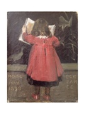 Portrait of the Artist's Daughter, Alethea Garstin, 1898 Giclee Print by Norman Garstin