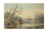 Trapping Beaver, 1858 Giclee Print by Alfred Jacob Miller