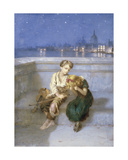 On Waterloo Bridge, London Giclee Print by Augustus Edward Mulready