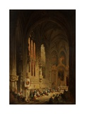 Interior of a Cathedral, 1822 or 1829 Giclee Print by David Roberts