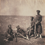 Zouaves Photographic Print by Roger Fenton