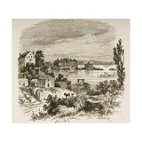 Turtle Bay and Blackwells Island, New York, C.1880 Giclee Print by Reverend Samuel Manning