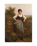 A Rest by the Wayside, C.1910 Giclee Print by Camille Felix Bellanger
