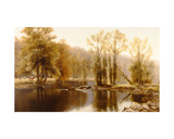 Extensive River Landscape with Cattle Giclee Print by Edward J. Duval