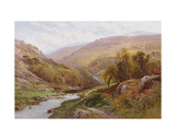 A Fisherman by a Highland Stream Giclee Print by Alfred, Sr. Glendening