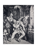 A Barber-Surgeon Operating in His Office Giclee Print