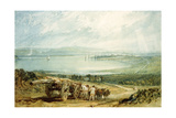 Poole, Dorset with Corfe Castle in the Distance Giclee Print by J. M. W. Turner