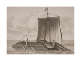 A South American Bolsa Wood Raft, Engraved by Thomas Milton (1743-1827) 1820 Giclee Print by William Anderson