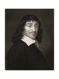 Rene Descartes (1596-1650) from 'The Gallery of Portraits', Published 1833 Giclee Print