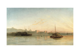 View of the Thames at Greenwich, C.1865 Giclee Print by William Adolphus Knell