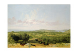 View of Narragansett Bay, Near Warwick, Rhode Island Giclee Print by David Johnson