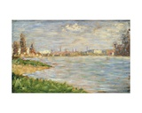 The River Banks, C.1883 Giclee Print by Georges Pierre Seurat
