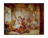 Backstage at the Theatre Royal, Possibly Depicting Ira Frederick Aldridge (1807-67) Rehearsing… Giclee Print by Abraham Solomon
