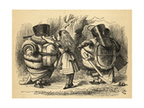 The Battle over the Rattle, Illustration from 'Through the Looking Glass' by Lewis Carroll… Giclee Print by John Tenniel