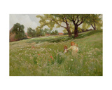 In the Fields Giclee Print by Henry John Yeend King