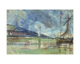 The Lighthouse at Honfleur Giclee Print by Eugène Boudin