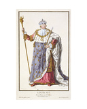 Louis Xvi (1754-93) King of France (1774-92) from 'Receuil Des Estampes, Representant Les Rangs… Giclee Print by Pierre Duflos