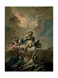 St. Ambrose in Glory Giclee Print by Gasparo Diziani
