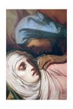 Virgin Mary at the Foot of the Cross, 1847 (Detail) Giclee Print by Henri Lehmann