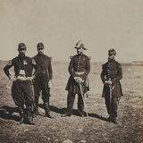 General Beuret and Officers of His Staff Photographic Print by Roger Fenton