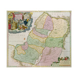 Map of the Holy Land Giclee Print by Theodorus Danckerts