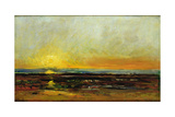 Sunset on the Sea Coast Giclee Print by Charles Francois Daubigny