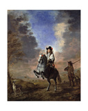 Equestrian Portrait of a Man with a Page Giclee Print by Thomas de Keyser