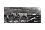 Unyoked Heifers Loitering Homeward, Illustration from Dr. Thornton's 'The Pastorals of Virgil' Giclee Print by William Blake