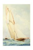 Schooner under Sail Giclee Print by Barlow Moore