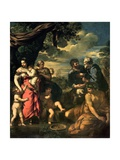 The Alliance of Jacob and Laban Giclee Print by Pietro Da Cortona