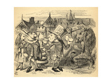 The Mad Hatter, Hare, the King and Alice, Illustration from 'Through the Looking Glass' by Lewis… Giclee Print by John Tenniel