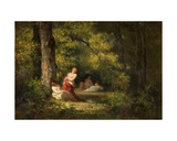 Four Nymphs in a Wood Giclee Print by Narcisse Virgile Diaz de la Pena