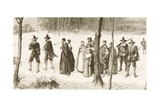 Pilgrim Fathers Going to Church, C.1880 Giclee Print by Reverend Samuel Manning