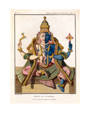 Hari-Hara, from 'Voyage Aux Indes Et a La Chine' by Pierre Sonnerat, Engraved by Poisson,… Giclee Print by Pierre Sonnerat