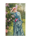 Gathering Roses, C.1880 Giclee Print by Edward Killingworth Johnson