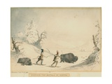 Hunting the Buffalo in Winter Giclee Print by Captain Seth Eastman