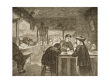 A Chinese Opium Den in San Francisco During the 1870s, C.1880 Giclee Print by Reverend Samuel Manning