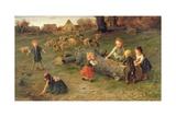 Mud Pies, 1873 Giclée-Druck von Ludwig Knaus