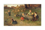 Mud Pies, 1873 Giclee Print by Ludwig Knaus