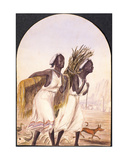 Somali Women at Aden, 1858 Giclee Print by Maitland Warren Bouverie Pasley