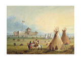Fort Laramie, 1858-60 Giclee Print by Alfred Jacob Miller