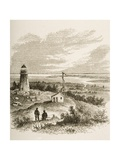 Sandy Hook New Jersey, Seen from the Lighthouse in the 1870s, C.1880 Giclee Print by Reverend Samuel Manning