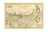 Map of the Russian Empire, in Europe and Asia, from 'Atlas De Toutes Les Parties Connues Du Globe… Giclee Print by Charles Marie Rigobert Bonne